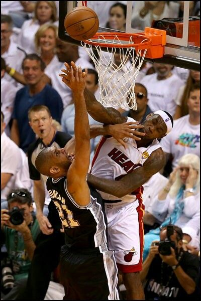 Lebron James Blocks Tim Duncan King Lebron James Lebron James