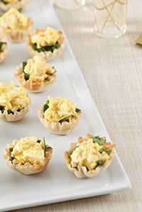 Curried Egg Salad in Mini Phyllo Nests