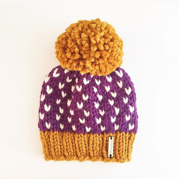 254dd14395ec71 Giant Pom Pom beanie, chunky knit hat, heart hat, fall style, winter outfit  accessory, handmade, knitwear, Nickichicki, huge Pom Pom hat