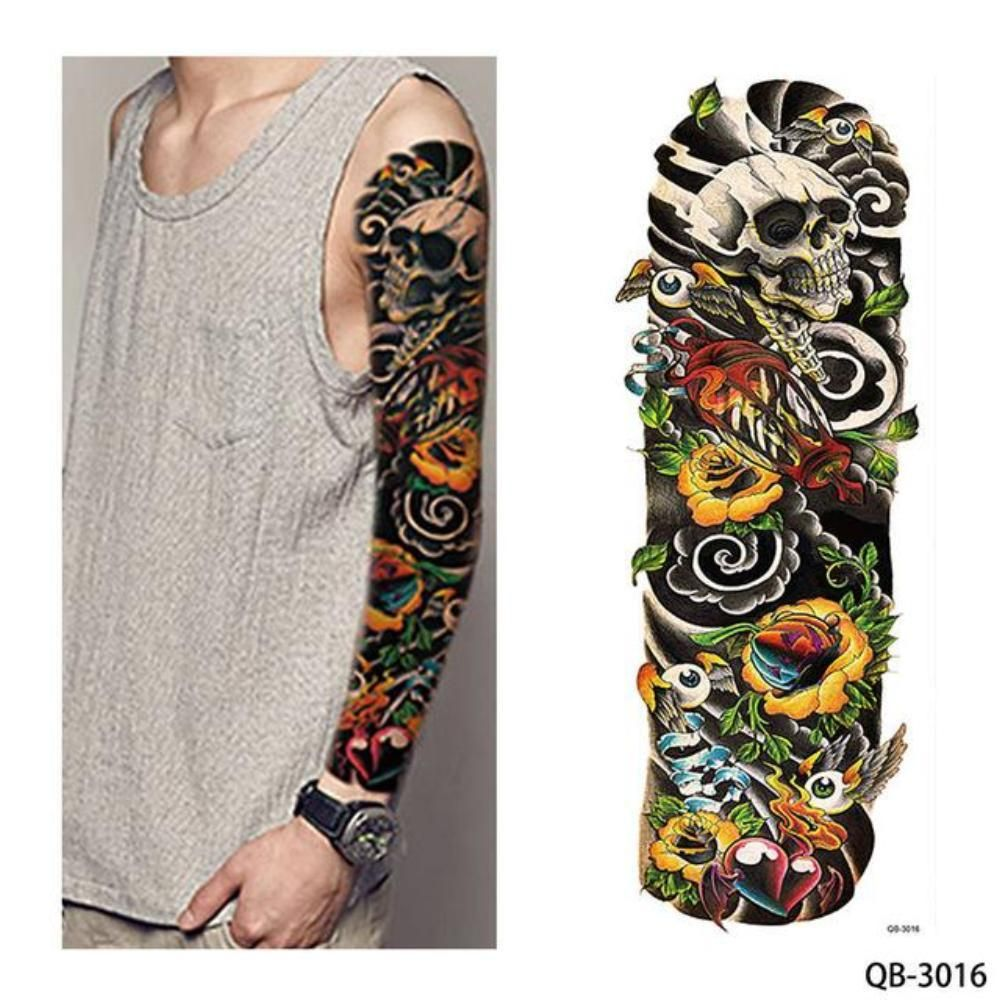 1 Piece Water Transfer Temporary Tattoo Full Arm Sleeve