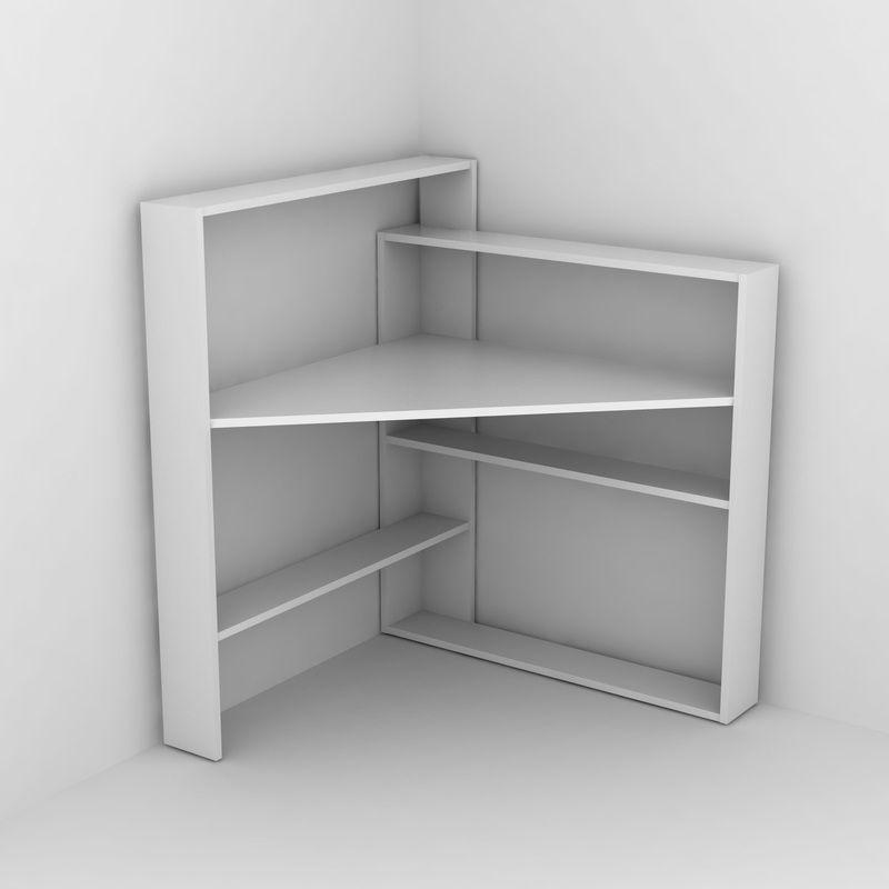 Pisagor Kose Masa Bembeyaz Rafevi Shelves Corner Shelves Diy Corner Desk