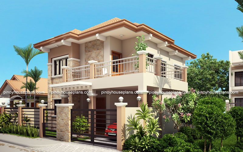 Php 2015023 Is A Four Bedroom Two Storey Contemporary Residence Having A Total Floor Area Of House Outside Design House Exterior Double Storey House
