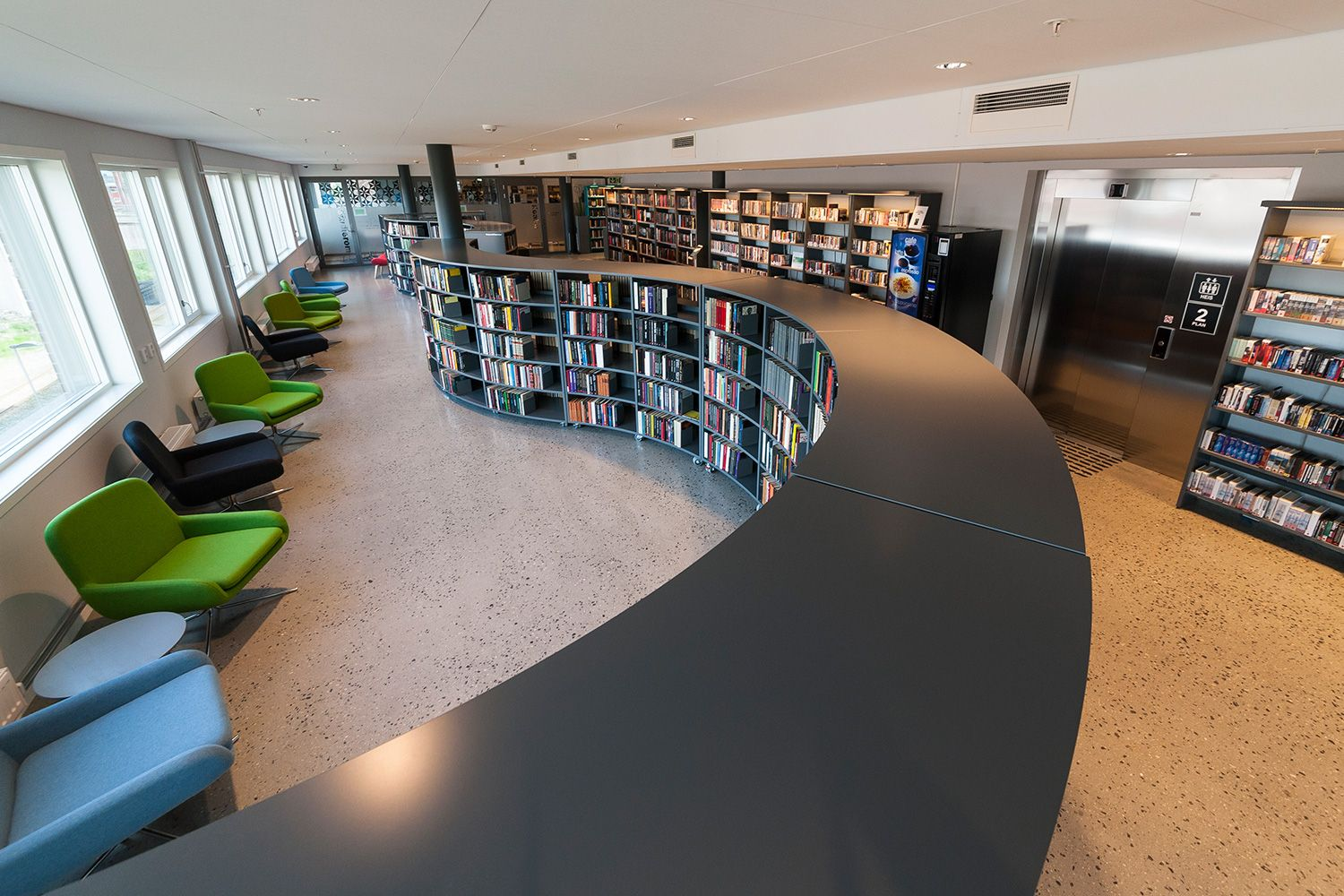 Frontline Shelving System - BCI Libraries | Modern Library ...