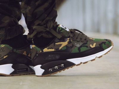 Wlolesale best quality nike air max 90 custom camo white