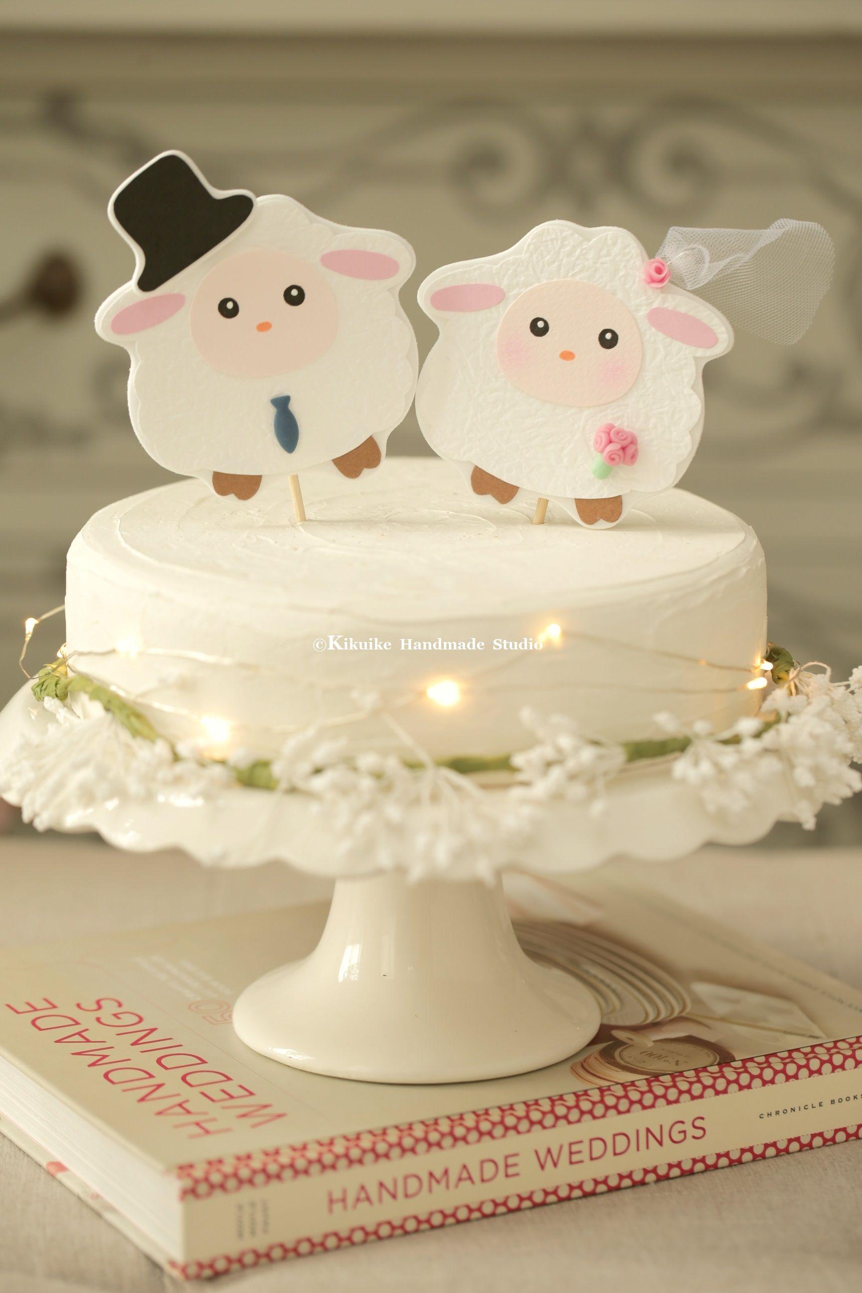 Sheep Wedding Cake Toppercustom Sheep Wedding Cake Toppersheep