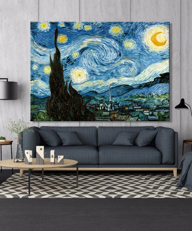Van Gogh Starry Night Posters And Prints Wall Art Canvas Painting Famous Painting Decorative Pictures For Living Room Home Decor In 2020 Starry Night Van Gogh Starry Night Painting Wall Art