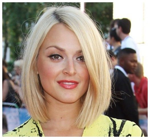Long Layered Bob For Thick Hair Long Hairstyles For Round Faces And Thick Hair Long Hairsty Blonde Bob Haircut Round Face Haircuts Bob Hairstyles For Thick