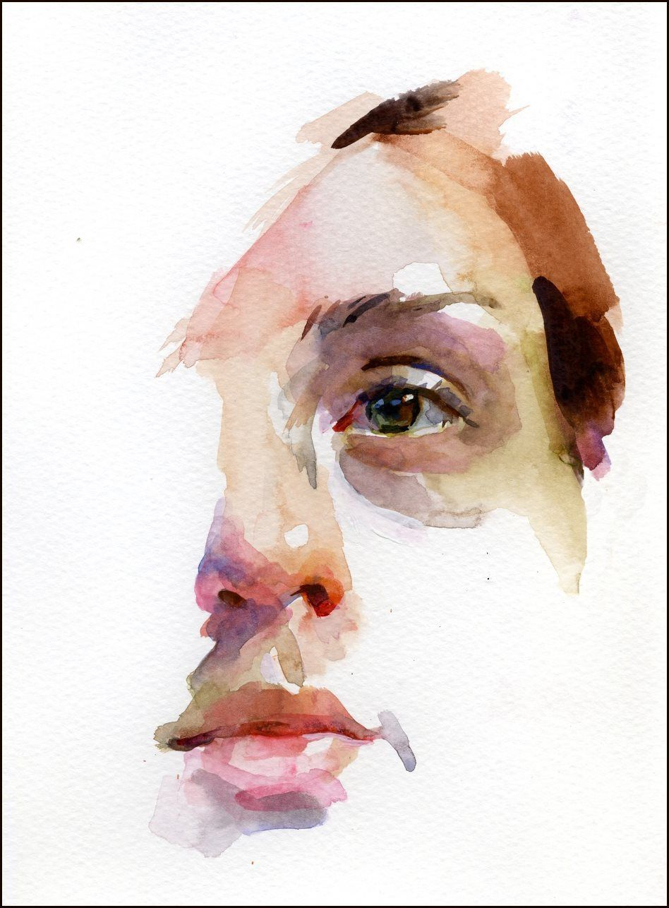 Stan Miller Watercolor Portrait Watercolor Face Watercolor