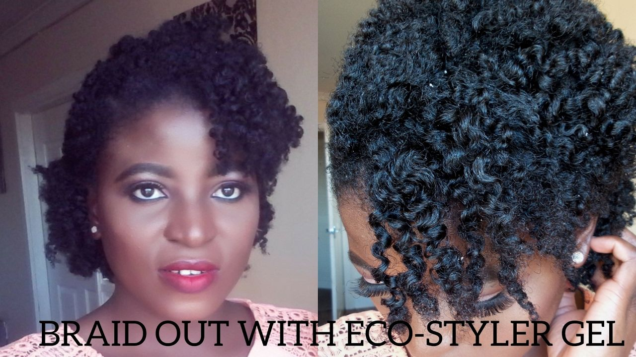 Defined Braidout With Eco Styler Gel On My Short 4c Natural Hair Kenny Natural Hair Styles 4c Natural Hair Eco Styler Gel