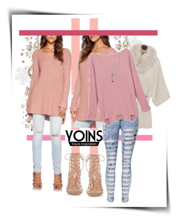 """""""Yoins Sweater"""" by katerina-rampota ❤ liked on Polyvore featuring Gianvito Rossi, Rachel Rachel Roy, women's clothing, women's fashion, women, female, woman, misses, juniors and yoins"""