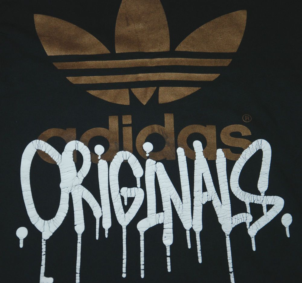 Adidas originals black short sleeve t shirt golden logo ...