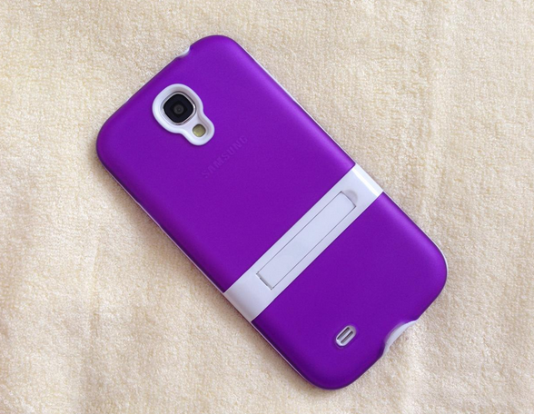new concept b8ef7 ab82f My brand new purple color silicone mobile cover with foldable stand ...