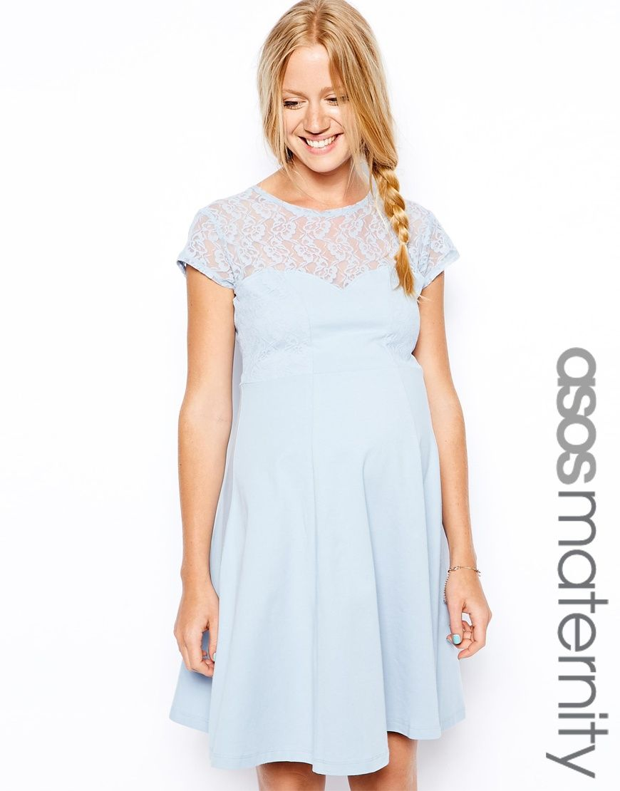 Asos maternity skater dress with lace insert baby bump vogue asos maternity skater dress with lace insert ombrellifo Image collections