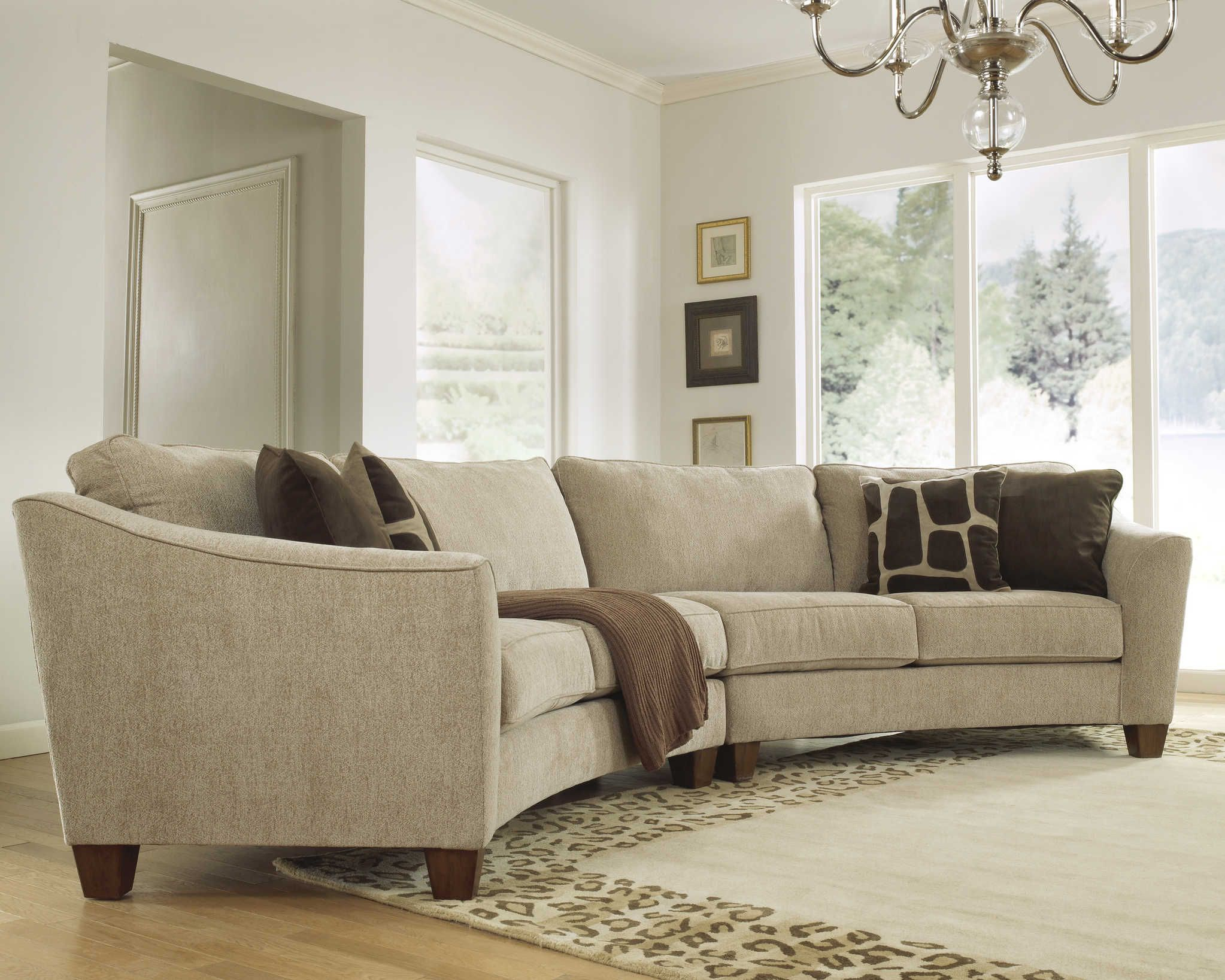 Curved Sectional Sofa Set   Rich Comfortable Upholstered Fabric    Contemporary Curved Sofa 2959