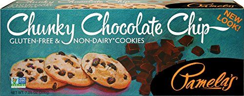 Pamela's Products Gluten Free Cookies, Chunky Chocolate Chip, 7.25-Ounce Boxes (Pack of 6) - http://bestchocolateshop.com/pamelas-products-gluten-free-cookies-chunky-chocolate-chip-7-25-ounce-boxes-pack-of-6/