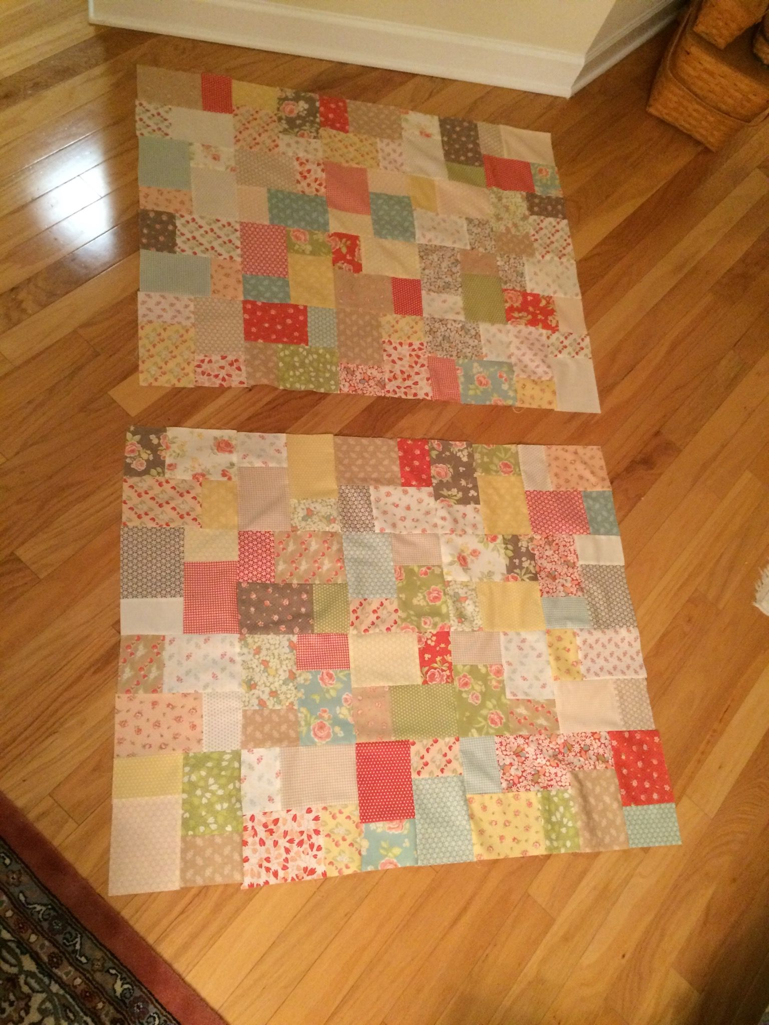 First two lap quilt tops I made.