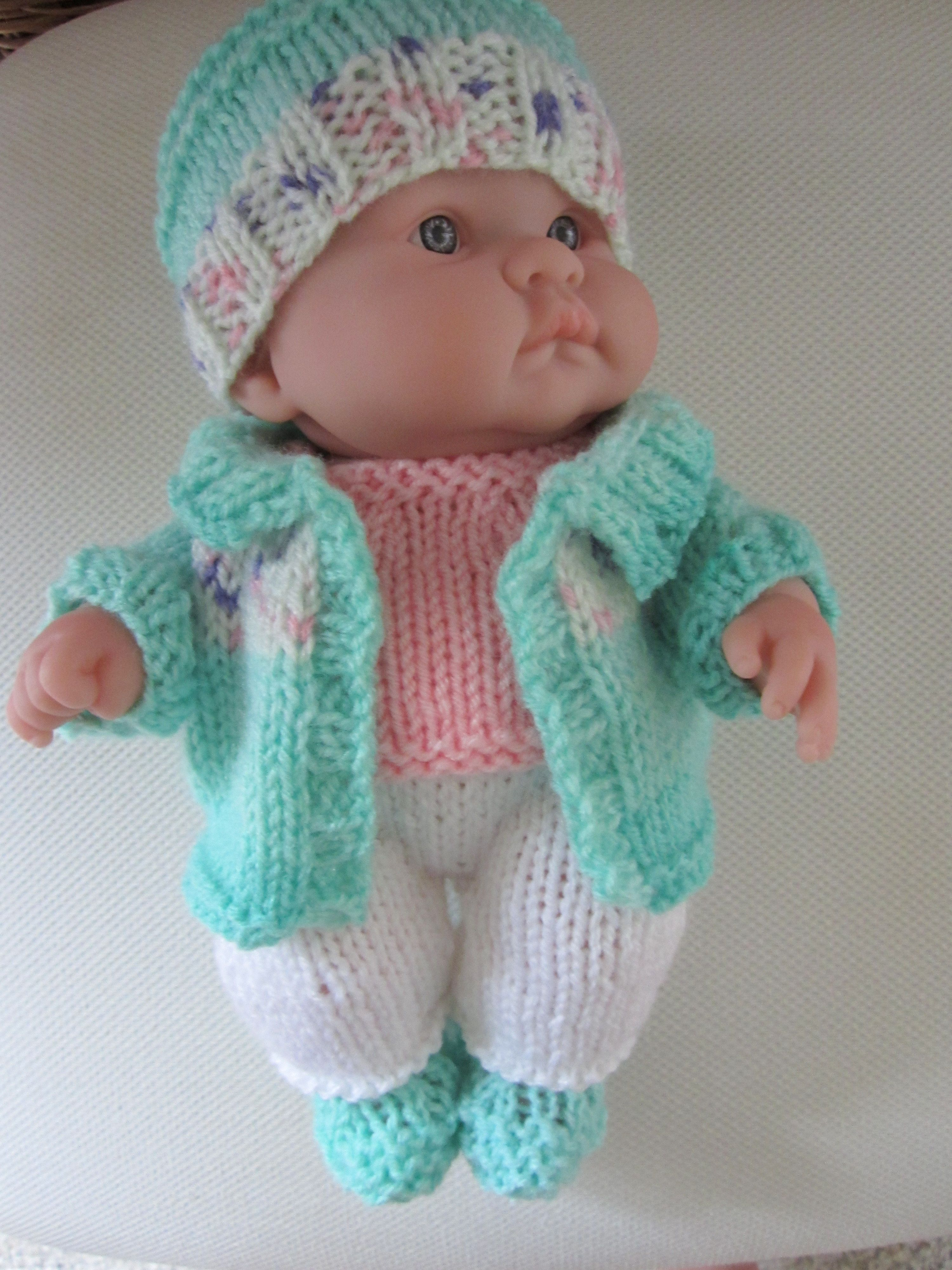 10 inch berenguer knit jacket and pants set