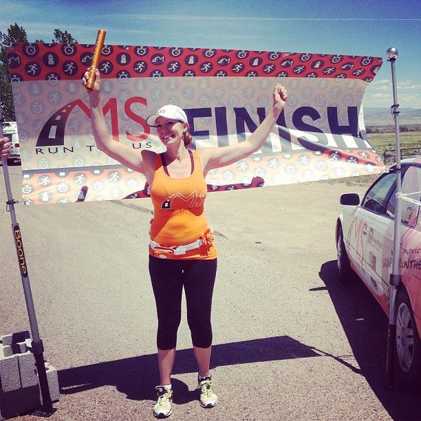 She did it!!! Michelle JUST finished her 6-day 180-mile journey this afternoon! #teamjacobi #msruntheus #UT