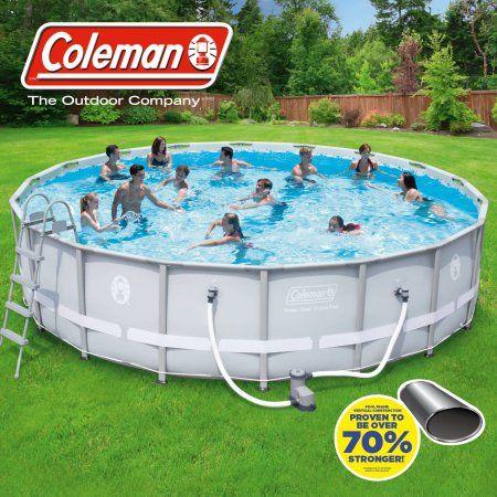 Coleman 18 39 x 48 inch power steel frame above ground for Gartenpool set
