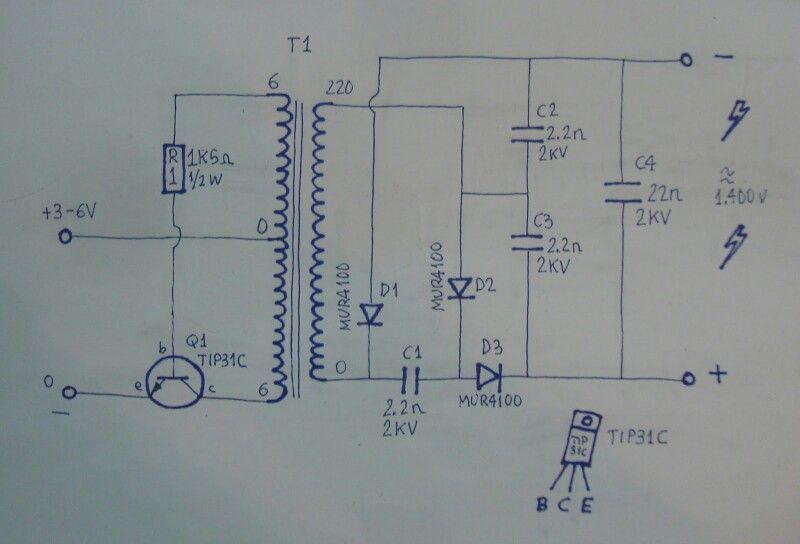 Circuito Eliminador de Mosquitos,,,, mosquitoes kiler circuit ...