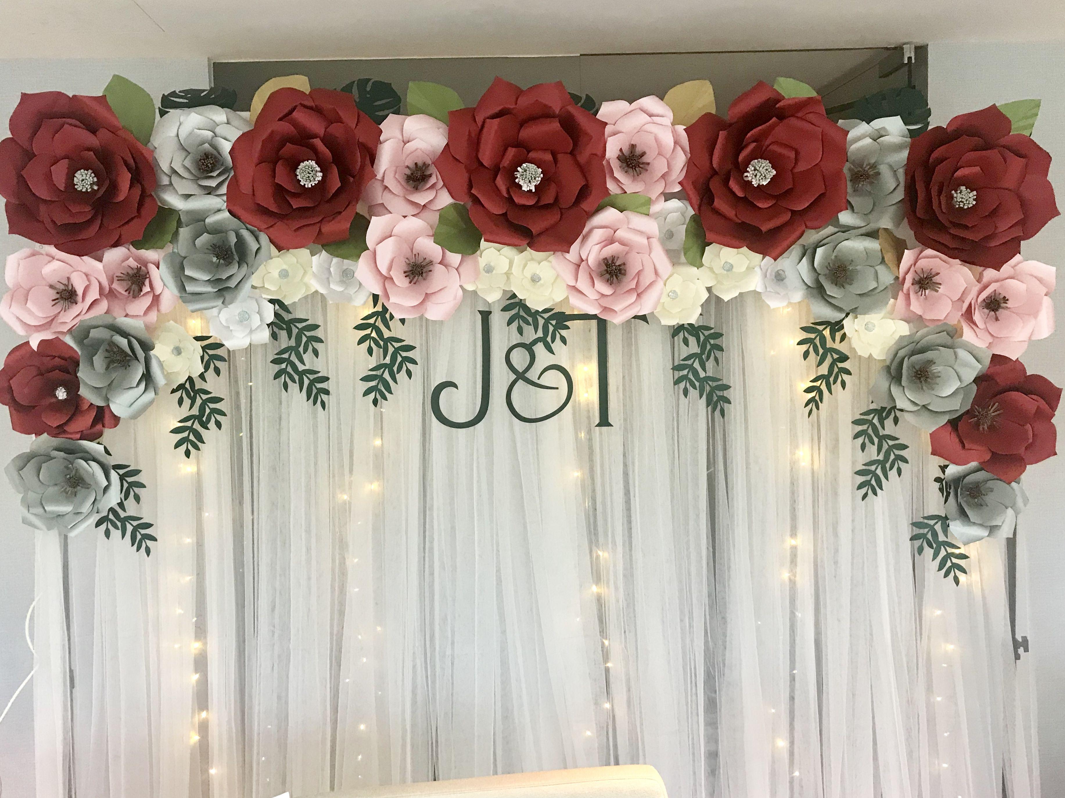 Giant Paper Flower Backdrop Paper Flower Backdrop Wedding Giant