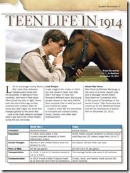 FREE War Horse Movie Worksheets