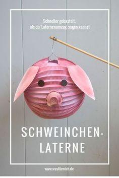 So schön und so schön schnell gemacht: Unsere Schweinchen- und Apfel-Laternen - wasfürmich #laternebasteln
