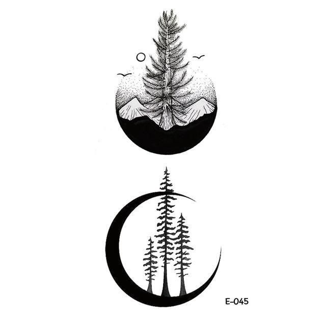 52a7e43342f0a 1PC Waterproof Creative Tattoo Stickers Cosmic Ecology Alien Astronauts  Rockets Stars Constellation Fake Tattoos Man and Women