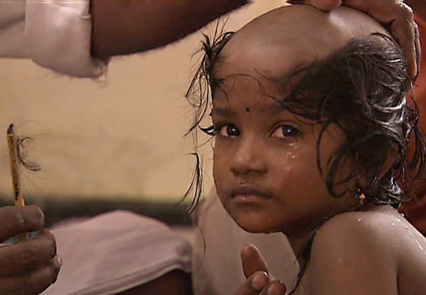 Hindu Hair Men Women And Children Of All Ages Submit To The Hair