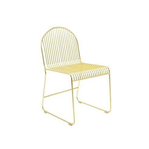Bloomingville Friend Dining Chair in Gold Metal – Metal Frame Dining Chairs