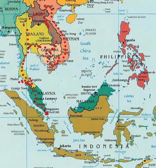 Map Of Asia That Can Be Used In Asia Study For Year Australian - Asia maps