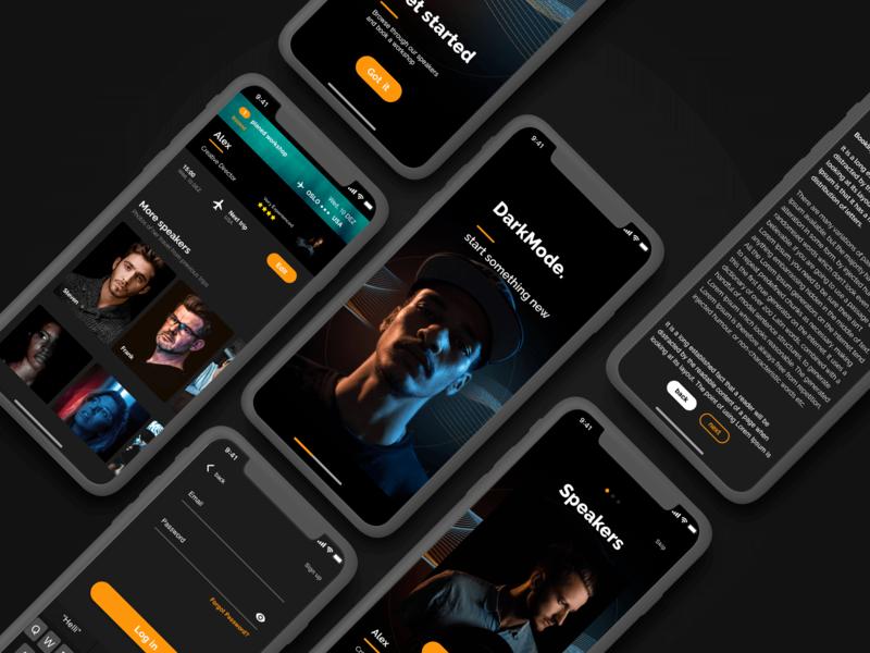 Darkmode Mobile UI by Lukas Rudrof on Dribbble
