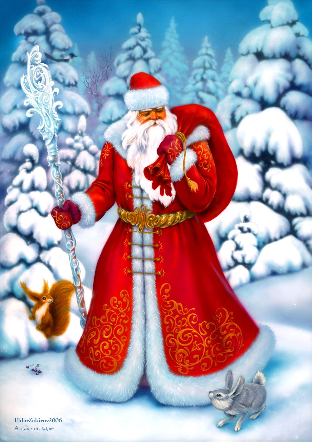 jolly santa claus .. X ღɱɧღ Greeting card