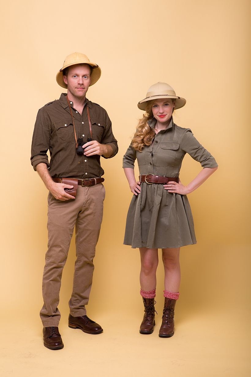 Easy Halloween DIY Costume Ideas for Couples Safari Couple  sc 1 st  Pinterest & 5 Amazing Couples Halloween Costume Ideas | Pinterest | Diy costumes ...