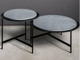 Round Side Table Material Table Makro Table Basse Mobilier De Salon Mobilier