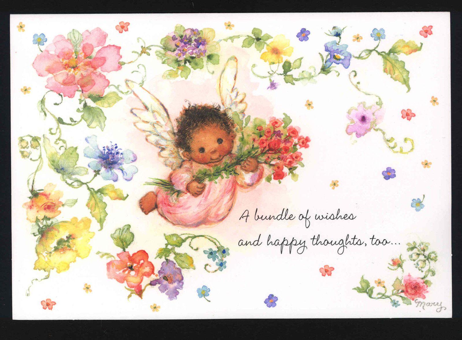 Mint Mary Hamilton Precious Black Angel Child With Roses Hallmark Card Ebay Hallmark Cards Hallmark Greeting Cards Vintage Birthday Cards