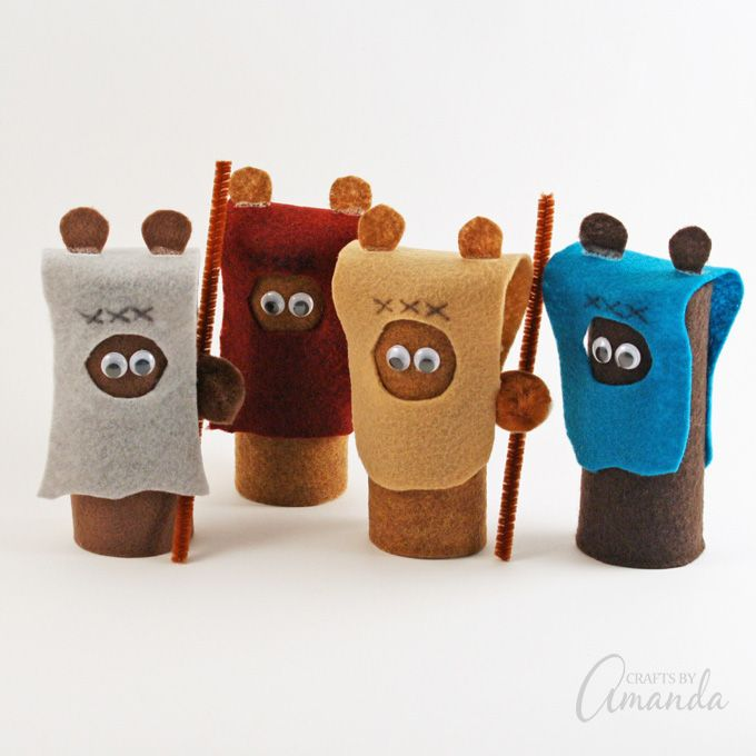 Cardboard Tube Ewoks | Fun Family Crafts