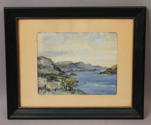 Estate-Found-EI-Bryce-Irish-Ireland-Glencar-County-Sligo-Seascape-Oil-Painting