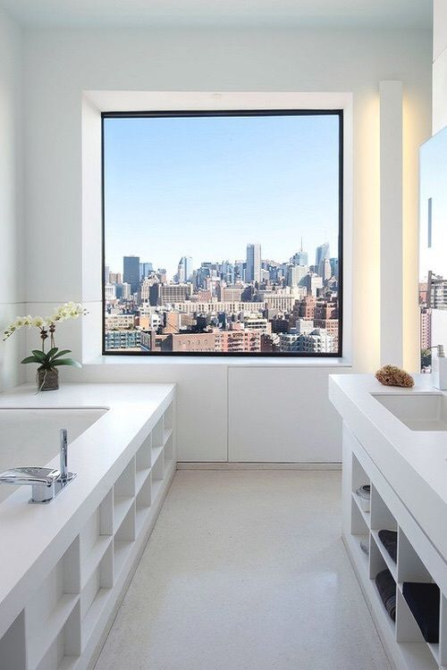 view, city, white bath room and goals