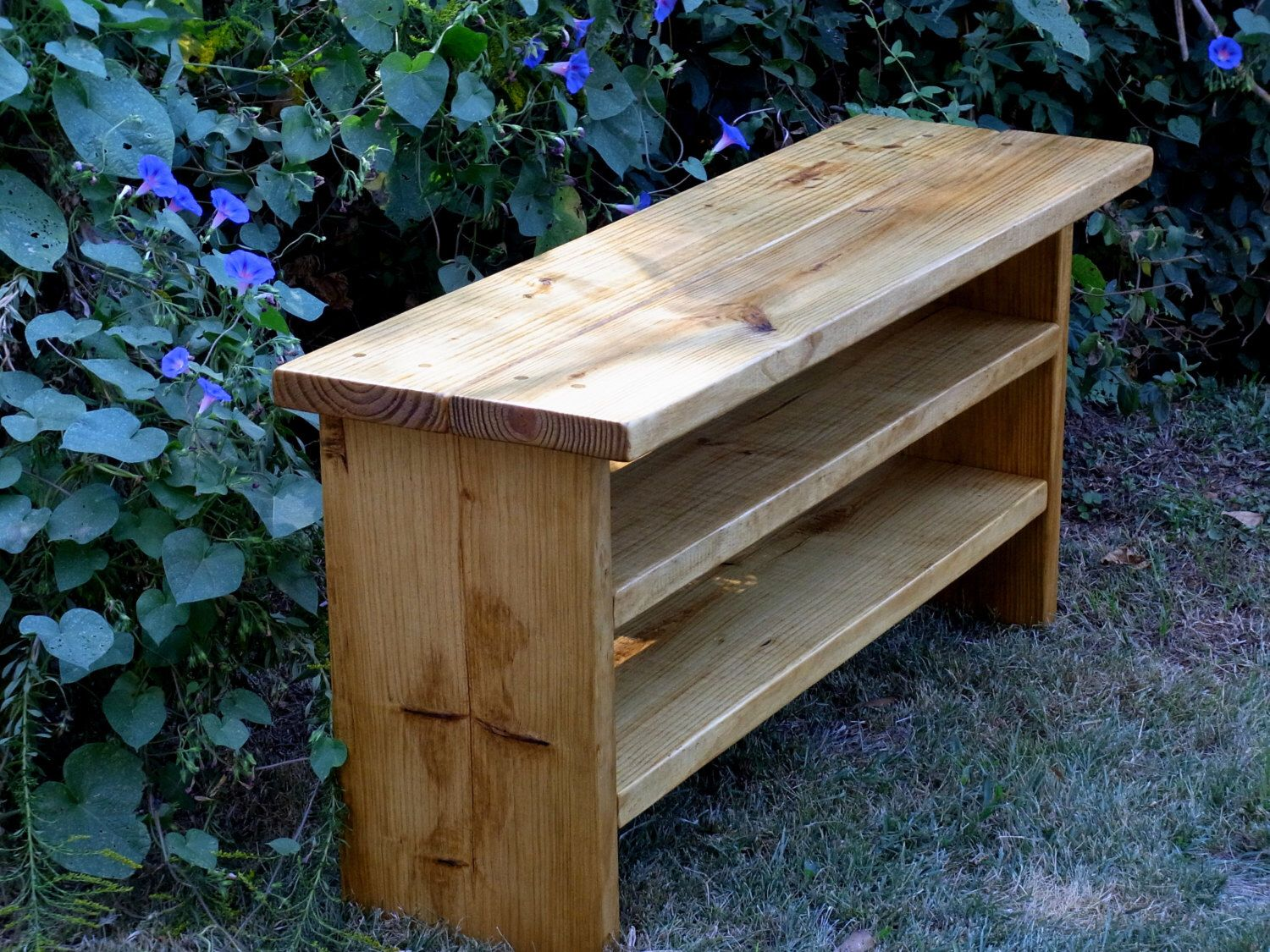 Tall Rustic Bench Entryway Hallway Mudroom Storage Bench Shoe Bench 48 Inch  By DunnesWoods On Etsy