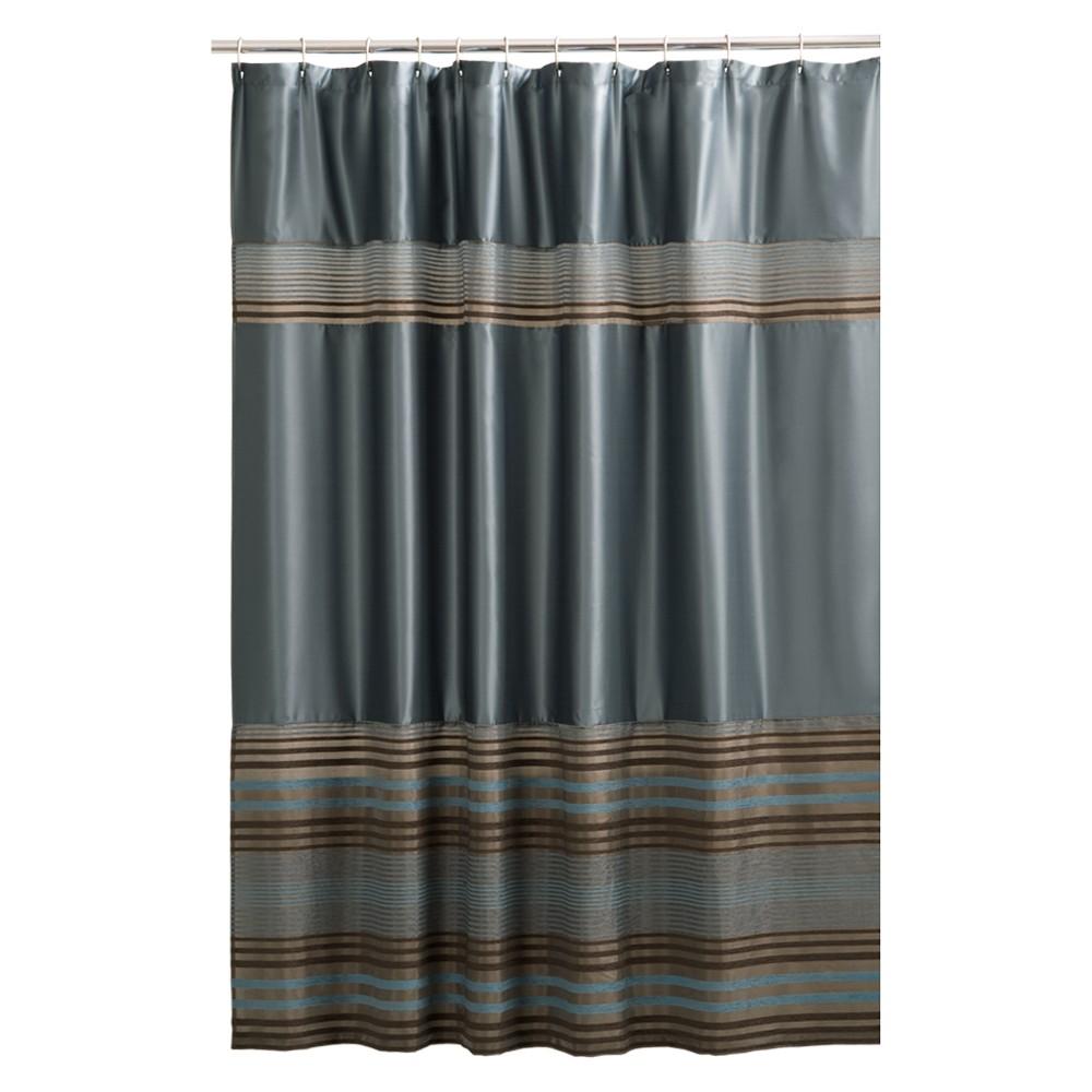 Maytex mark stripe fabric shower curtain blue maytex products