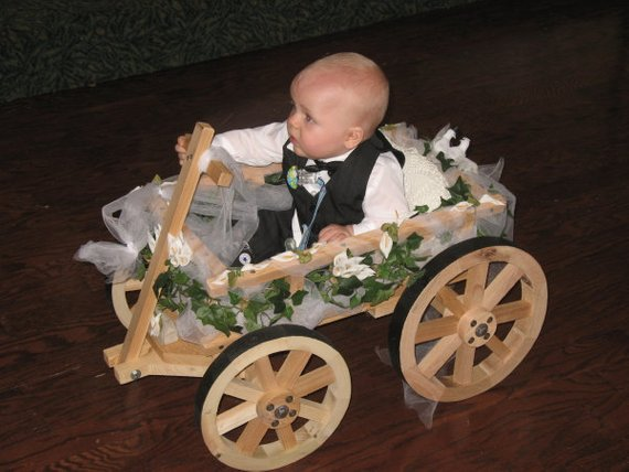 Small Flower Girl Wedding Wagon Unfinished Etsy Wagon For Wedding Flower Girl Wagon Flower Girl