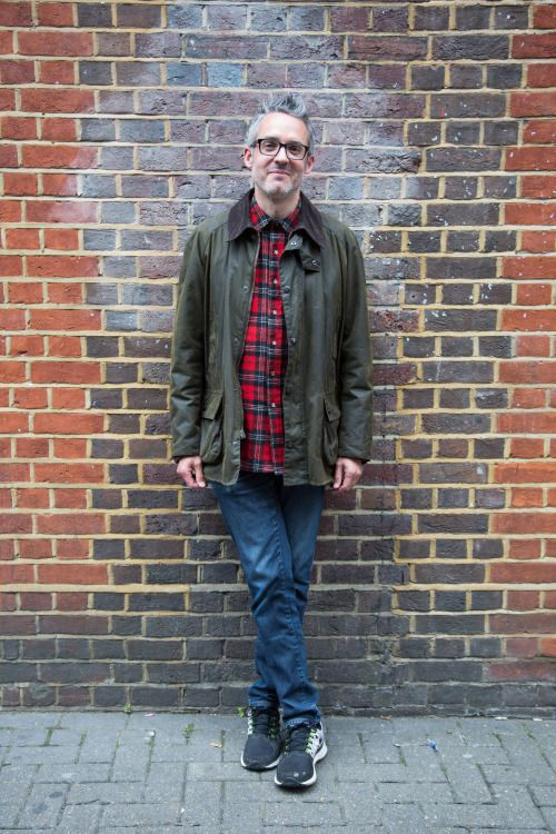 'We love Marcus\u2019 combination of red tartan and wax for a classic everyday look. Marcus is wearing his much loved Beaufort jacket.\u00a0'