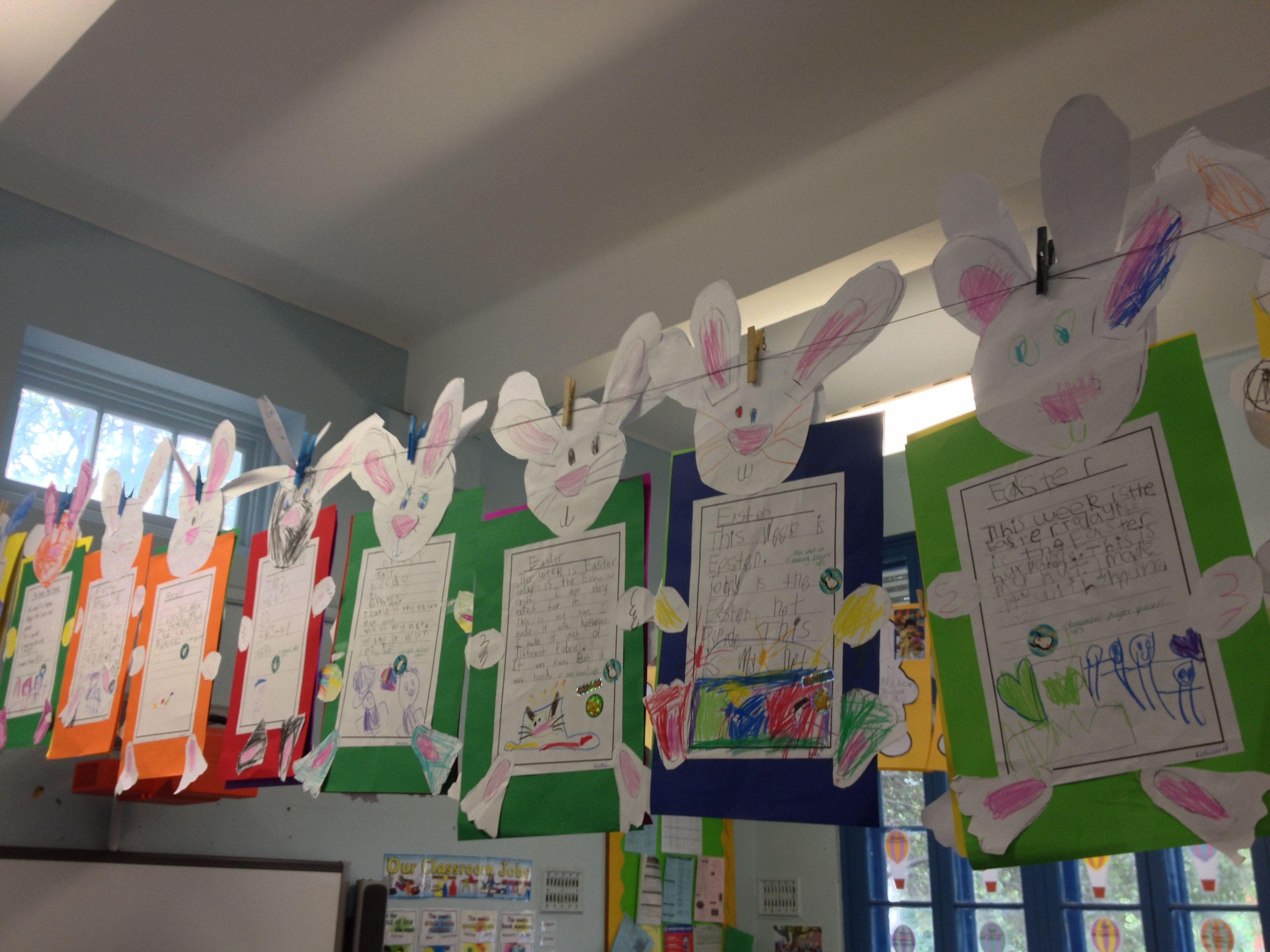 Kindergarten Easter Writing Task