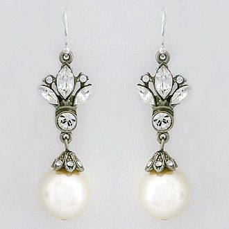 Vintage Pearl Drop Bridal Earrings Reflecting The Unique Style Of