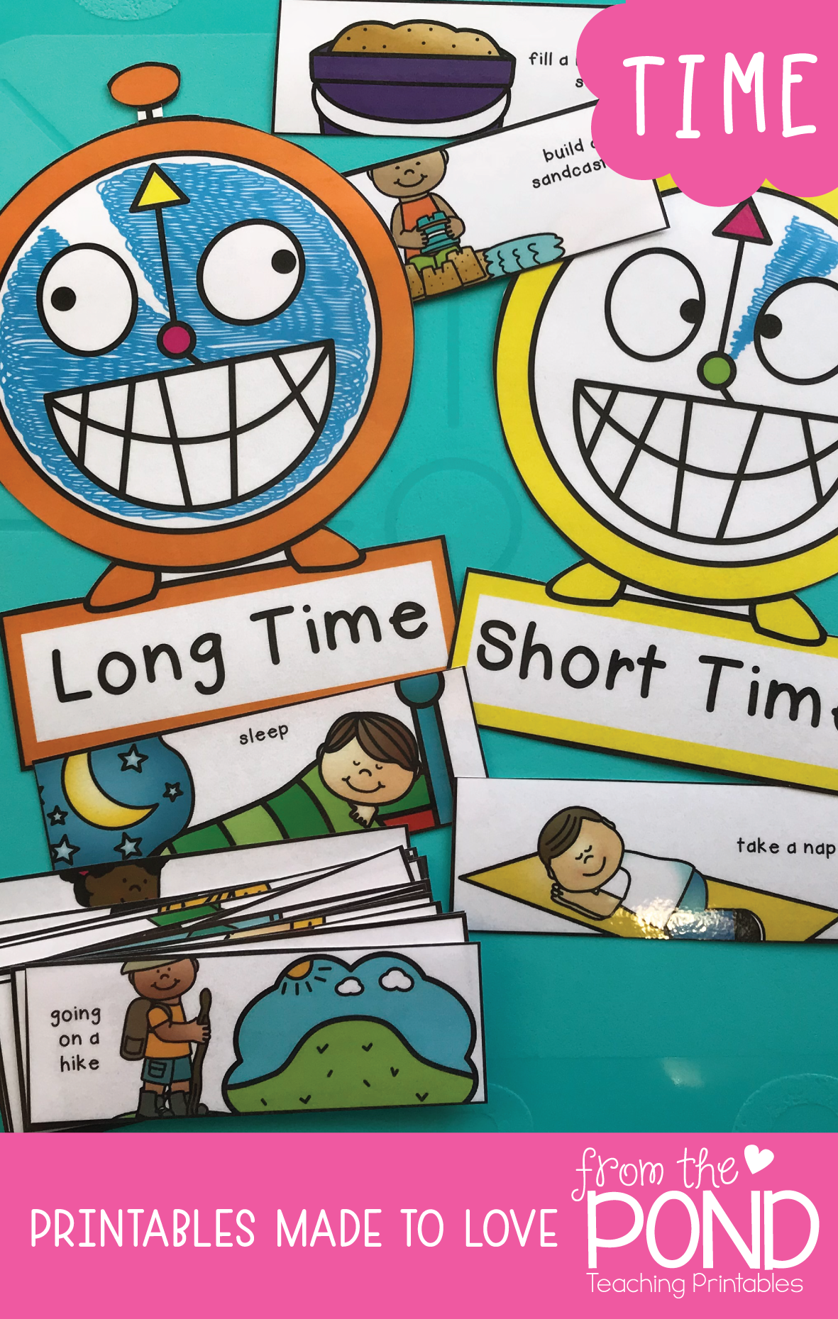 Time to the Hour {Math Activities Pack #16} Math Centers ...