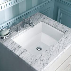 Kohler Archer Undermount Bathroom Sink In White Good Undermount