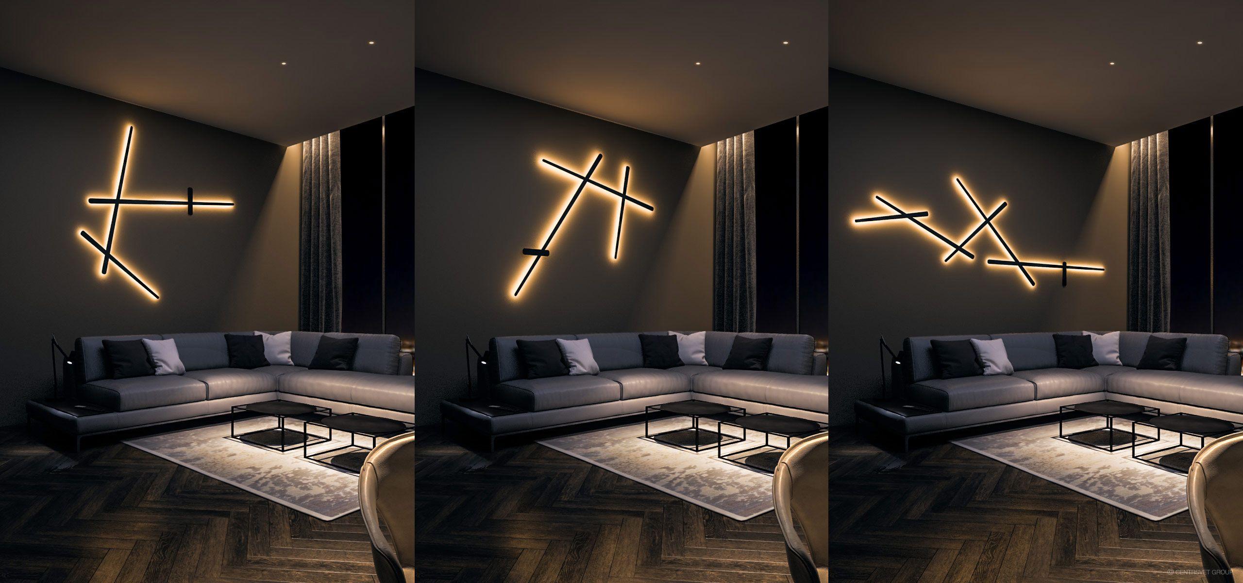 Оригинальное освещение в помещении