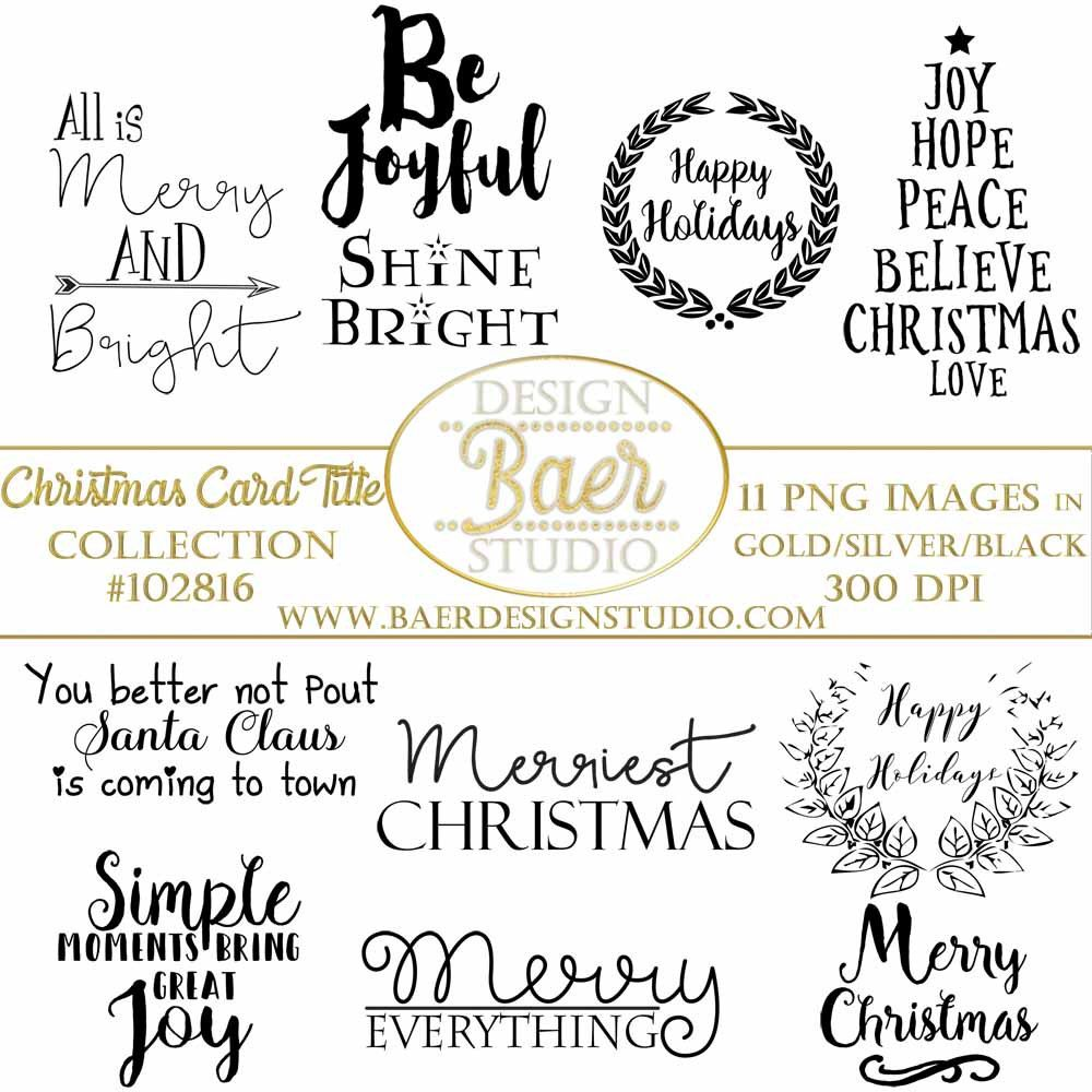 How to scrapbook words - Christmas Word Art Christmas Scrapbook Titles Quote Digital Stamps Photo Overlayschristmas Word Art Greetings