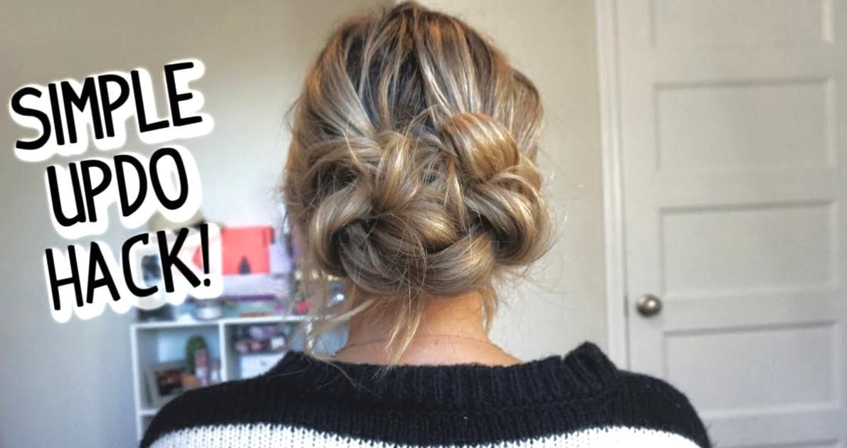 Easier Than It Looks Everyday Updo For Short Medium And Long Hair Youtube In 2020 Easy Hair Updos Long Hair Styles Nurse Hairstyles